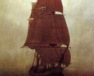 Sailing ship — Каспар Давид Фридрих