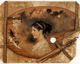 Portrait of a woman on a pallet — Генрих Семирадский