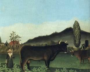 (Landscape with cow) — Анри Руссо