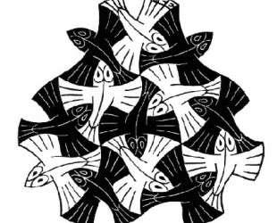 7 Black and 6 White Fishes — Мауриц Корнелис Эшер