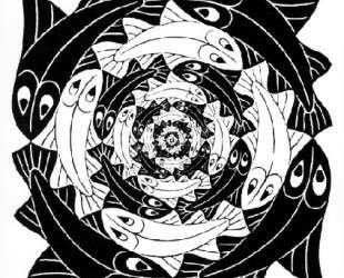 Circular Fish — Мауриц Корнелис Эшер