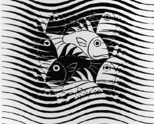 Fishes in Waves — Мауриц Корнелис Эшер
