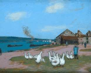 Village of Saint Mammes — Альфред Сислей
