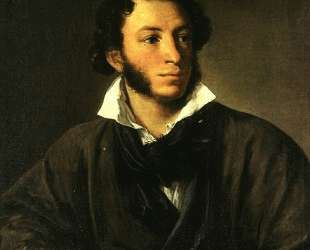 Portrait of Alexander Pushkin — Василий Тропинин