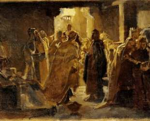 Christ in the synagogue — Николай Ге