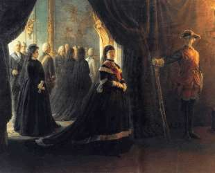 Catherine II (1729-96) at the Coffin of Empress Elizabeth (1709-61) — Николай Ге