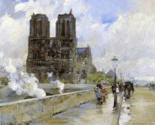 Notre Dame Cathedral, Paris — Чайльд Гассам