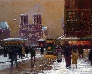 Notre Dame, St. Michael, under the snow — Эдуард Кортес