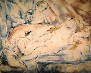 Nude Female with Attendants — Поль Сезанн