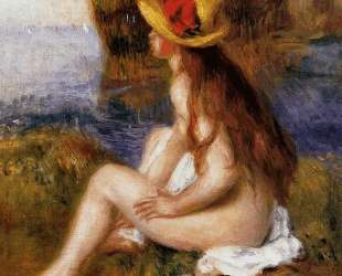 Nude in a Straw Hat — Пьер Огюст Ренуар