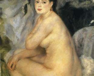 Nude Seated on a Sofa — Пьер Огюст Ренуар