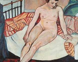 Nude with a Striped Blanket — Сюзанна Валадон