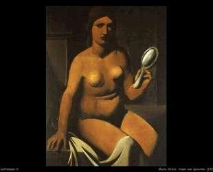 Nude with mirror — Марио Сирони