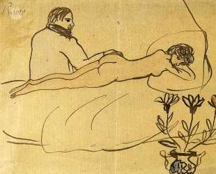 Nude with Picasso by her feet — Пабло Пикассо