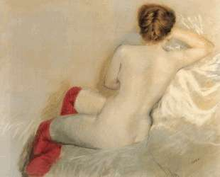 Nude with Red Stockings — Джузеппе Де Ниттис