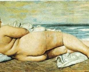 Обнаженная на пляже — Джорджо де Кирико