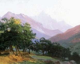Дубы в горах Каррары — Николай Ге