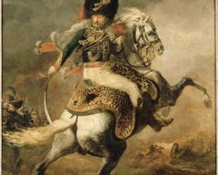 Officer of the Chasseurs charging on horseback — Теодор Жерико