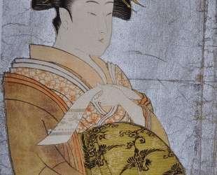 Oiran Hanaogi — Китагава Утамаро