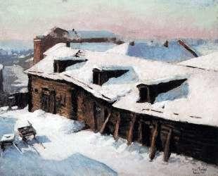 Старый сарай в морозный день — Игорь Грабарь