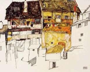 Old Houses in Krumau — Эгон Шиле