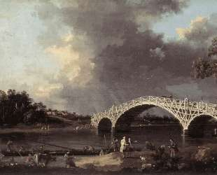 Old Walton Bridge over the Thames — Каналетто