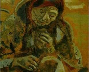 Старуха с клубком ниток — Марк Шагал