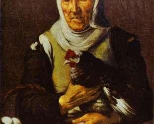 Old Woman with a Hen — Бартоломе Эстебан Мурильо