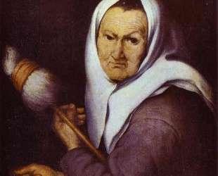 Old Woman with Distaff — Бартоломе Эстебан Мурильо