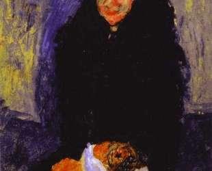Old Woman with Dog — Хаим Сутин