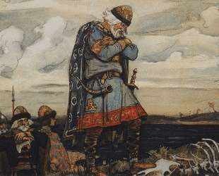 Oleg at his horse`s remains — Виктор Васнецов