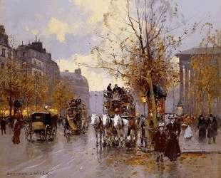 Omnibus on the Place de la Madeleine — Эдуард Кортес