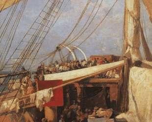 На палубе парохода — Константин Коровин