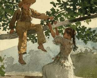 On the Fence — Уинслоу Хомер