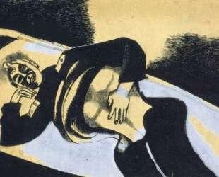 На носилках (Раненый солдат) — Марк Шагал