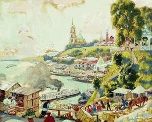 На Волге — Борис Кустодиев