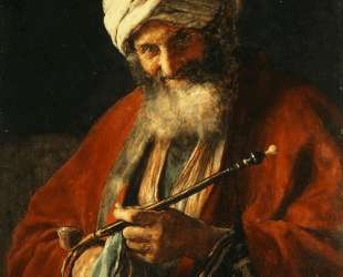 Oriental Man with a Pipe — Николаос Гизис