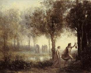 Орфей, ведущий Эвридику из преисподней — Камиль Коро