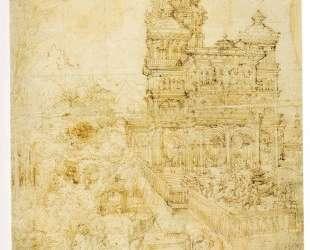 Эскиз картины Сусанна и старцы — Альбрехт Альтдорфер