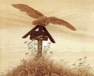 Owl on a grave — Каспар Давид Фридрих
