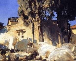 Oxen Resting — Джон Сингер Сарджент