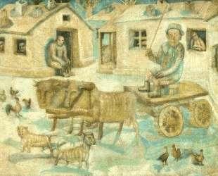 Волы. Сцена из жизни кочевников — Павел Филонов