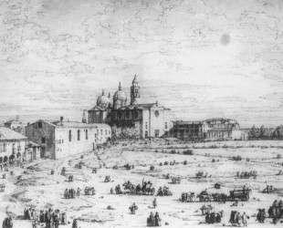 Padua: The Prato della Valle with Santa Giustinia and the Church of Misericordia — Каналетто