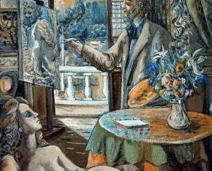 Painter and reclining model — Рафаэль Забалета