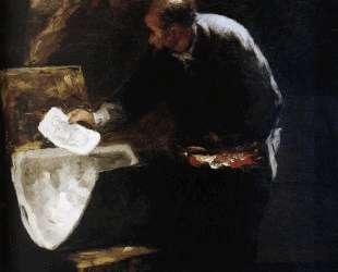 Художник разделяет на листы картон с рисунком — Оноре Домье
