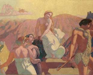 Panel 6. Psyche's Kin Bid Her Farewell on a Mountain Top — Морис Дени