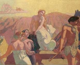 Panel 6. Psyche's Kin Bid Her Farewell on a Mountain Top — Морис Дени