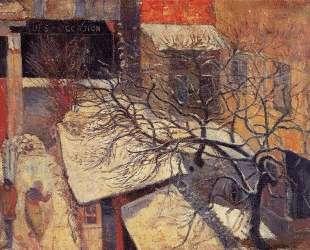Париж в снегу — Поль Гоген