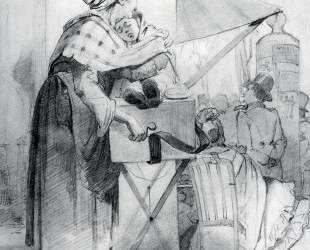 Парижская шарманщица. Эскиз — Василий Перов