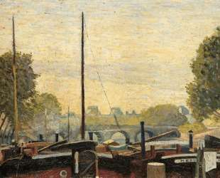 Paris, The Seine, the Barges of the Louvre — Джино Северини